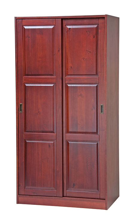 2-Sliding Door Wardrobe -Mahogany