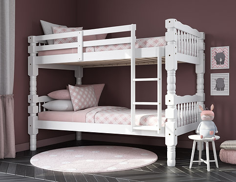 4091 - Dakota Twin/Twin Bunk Bed, White