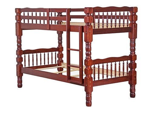 Dakota Twin/Twin Bunk Bed, Mahogany