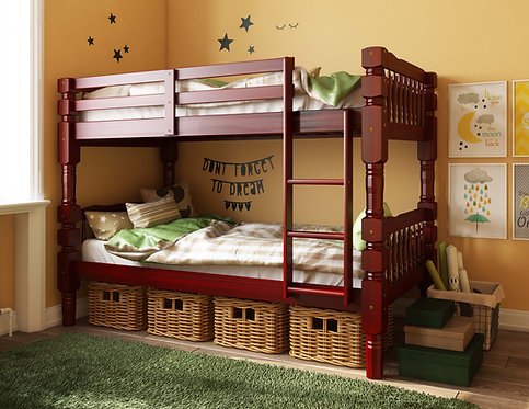 4092 - Dakota Twin/Twin Bunk Bed, Mahogany
