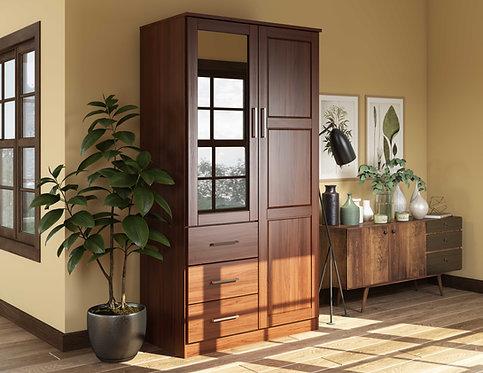 7103 - 100% Solid Wood Metro Wardrobe -Mocha