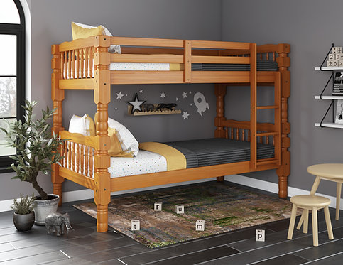 4094 - Dakota Twin/Twin Bunk Bed, Honey Pine
