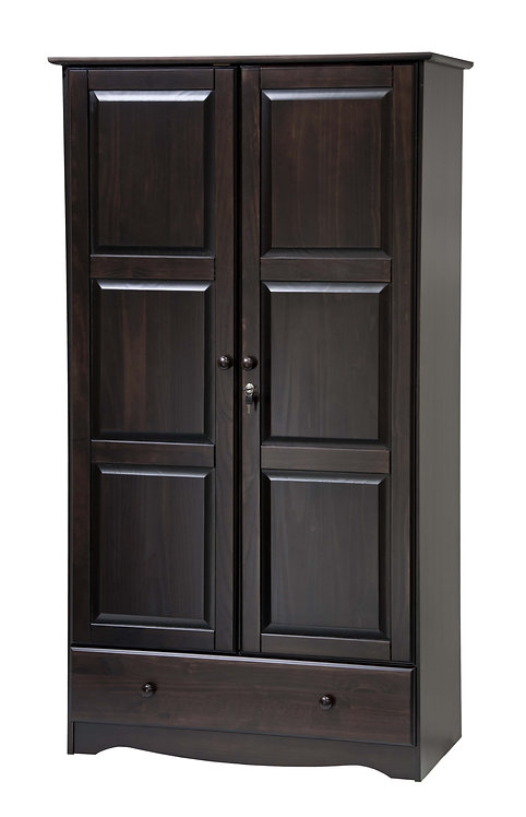 5626 - 100% Solid Wood Universal Wardrobe - Java