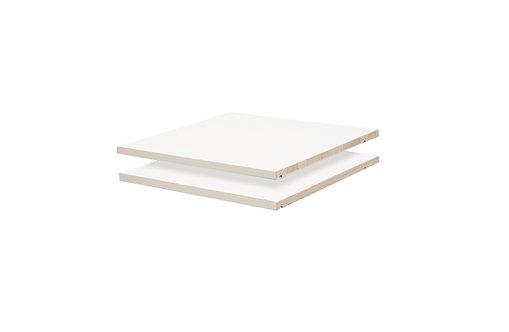 5631 - Cosmo, Metro Wardrobes Optional Shelves, White, Set of 2