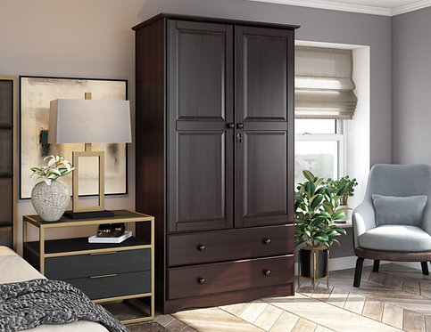 5926 - 100% Solid Wood Smart Wardrobe, Java