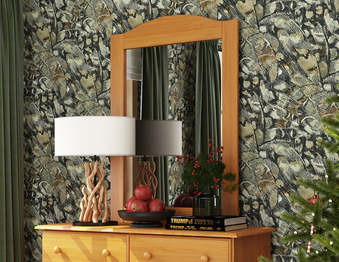 57104 - Mirror - Honey Pine
