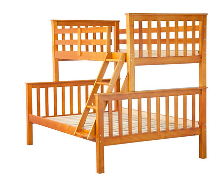 Mission Twin/Full Bunk Bed, Honey Pine