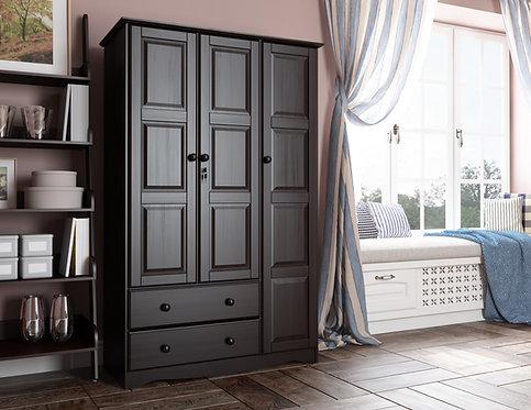 5696 - 100% Solid Wood Grand Wardrobe - Java