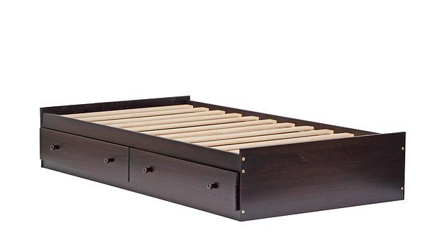 2436 - Twin Kansas Mates Bed W/ Drawers Java