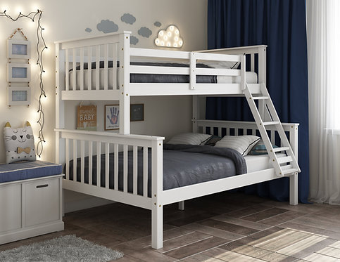 4141 - Mission Twin Over Full Bunk Bed, White