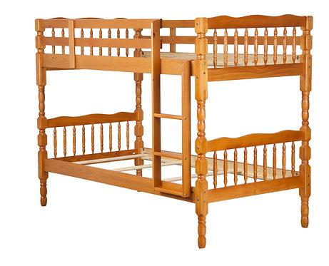 Arlington Twin/Twin Bunk Bed, Honey Pine