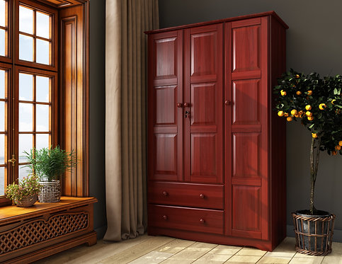 5692 - 100% Solid Wood Grand Wardrobe - Mahogany