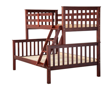 Mission Twin/Full Bunk Bed,Mahogany