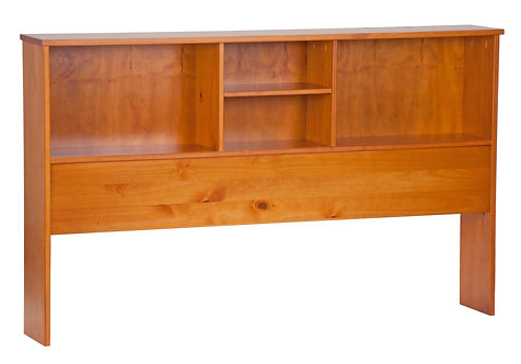 2544 - Full Kansas Bookcase Headboard Honey Pine