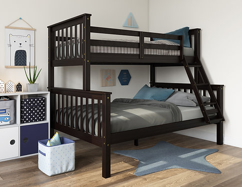 4146 - Mission Twin Over Full Bunk Bed, Java