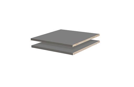 5635 -  Cosmo, Metro Wardrobes Optional Shelves, Gray, Set of 2