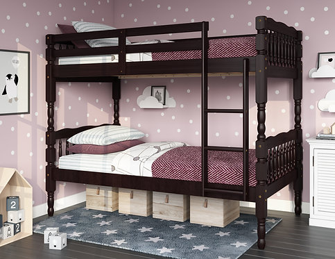4036 - Arlington Twin/Twin Bunk Bed, Java