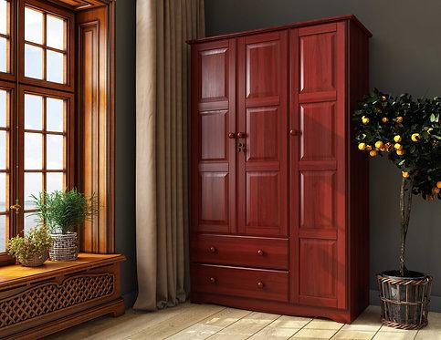 5692 - 100% Solid Wood Grand Wardrobe - Mahogany
