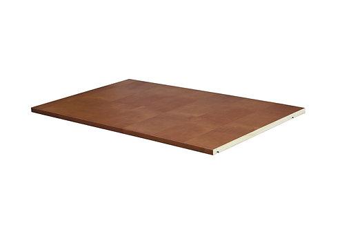 5683 - 100% Solid Wood Optional Shelf for 2- and 3-Sliding Door Wardrobes, Mocha