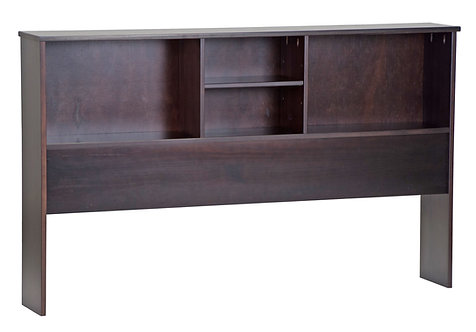 2546 - Full Kansas Bookcase Headboard Java