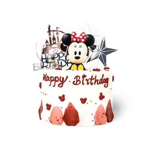 迪士尼米妮主题蛋糕