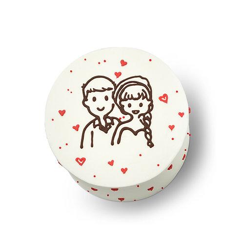 Korean Style Portrait-Drawing Cake