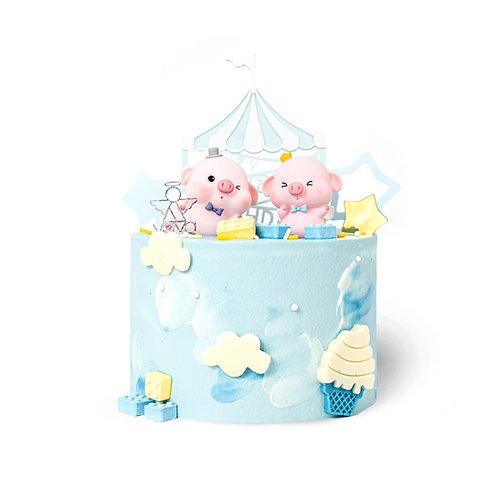 蓝色萌猪猪