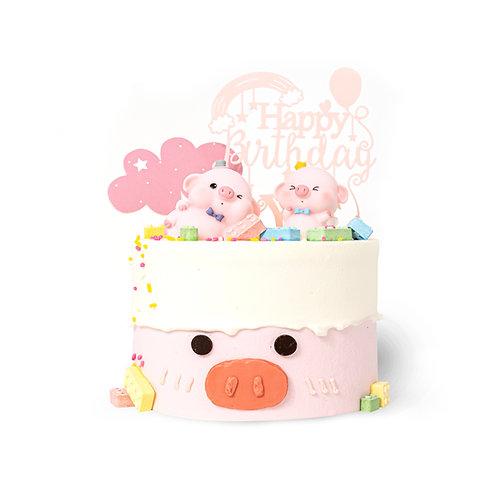粉色萌猪猪