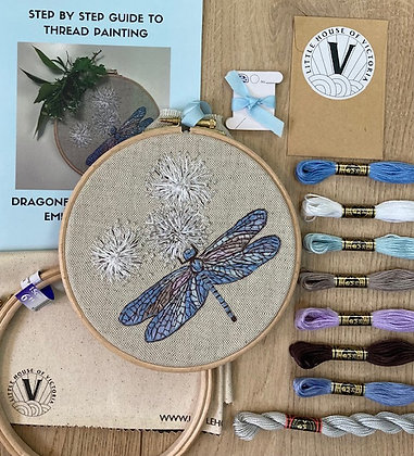 Embroidery Kit - Dragonfly & Dandelions