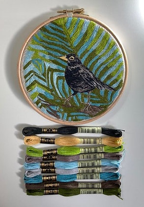 Embroidery Kit - Blackbird