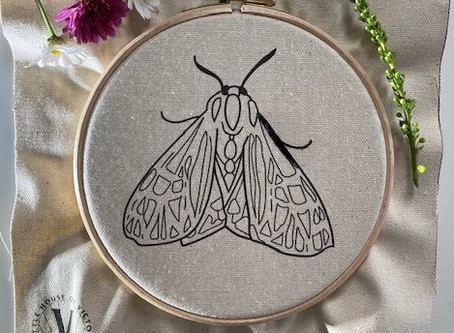 NEW!  The Parthenice Tiger Moth as a printed fabric template!