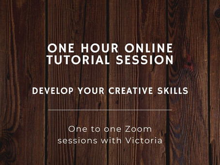 Enhance your creative development. One hour online Zoom sessions now available!