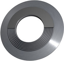 Kammprofildichtung mit Zentrierring Form B nach EN1514-6, EN12560-6 oder ASME B16.20 mit Weichstofauflage aus Graphit oder PTFE