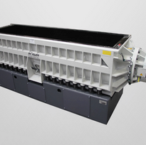 Trough vibrator R800 3000 TSD 15 Direct drive of the work trough through two directly connected high performance motors.