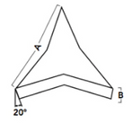 20 | Angle Cut Stars 20° | Washington Mills Ceramic Tumbling Media