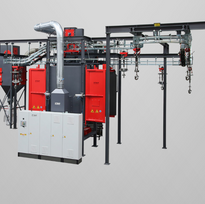 Spinner Hanger Blast Machines | Rosler | Precision Finishing Inc.