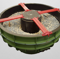Rotary vibrator for stone finishing with a capacity of 30 to 2600 liters of fill volume