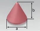 Cone Taper Top (K) | Rosler Pastic Media