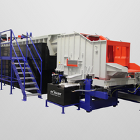Side view of linear continuous flow installation with catwalk
