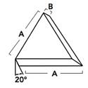 30 | Angle Cut Triangle 20° | Washington Mills Ceramic Tumbling Media