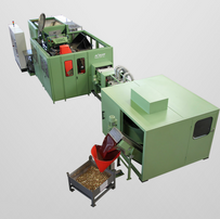 Coin polishing system with an all-around housing and noise protection cabin for optimal noise protection for the drying and polishing process