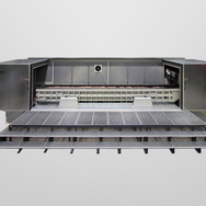 TU series trough vibrator with noise dampening cabin and catwalk