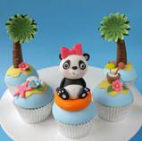 Panda Pool Party Cupcakes