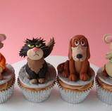 Cinderella Animal Character Cupcakes