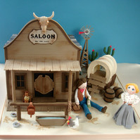 Cowboy Saloon Cake