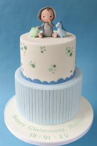 Toy Dinosaur Christening Cake