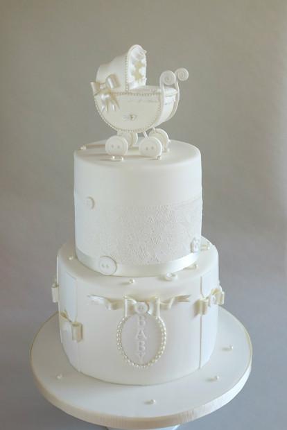 Pram Christening Cake