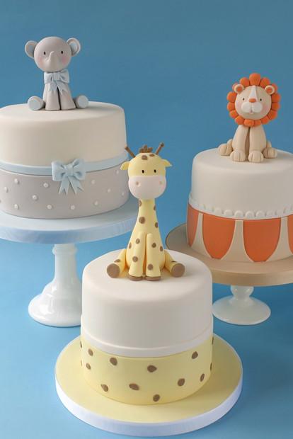 Jungle Christening Cake