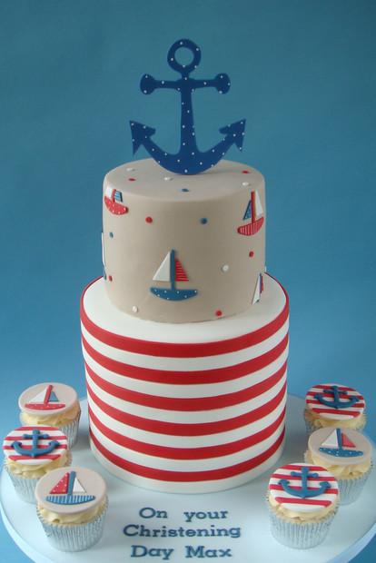 Nautical Christening Cake