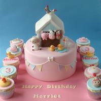 Barn Animal Cake